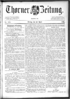 Thorner Zeitung 1892. Nr. 100