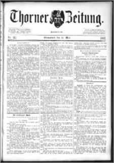 Thorner Zeitung 1892. Nr. 112