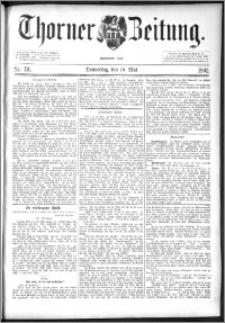 Thorner Zeitung 1892. Nr. 116
