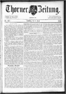 Thorner Zeitung 1892. Nr. 130 + Beilage