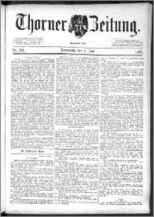 Thorner Zeitung 1892. Nr. 134