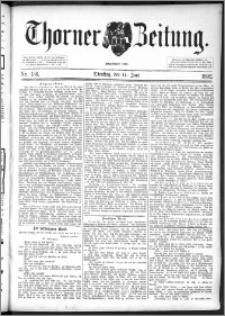 Thorner Zeitung 1892. Nr. 136