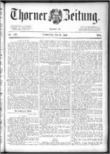 Thorner Zeitung 1892. Nr. 138 + Beilage