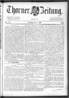 Thorner Zeitung 1892. Nr. 154