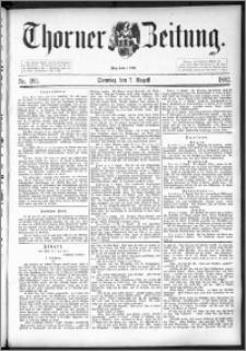 Thorner Zeitung 1892. Nr. 183 + Beilage