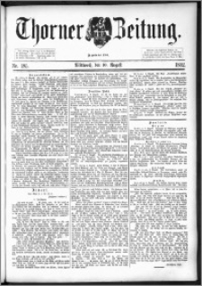Thorner Zeitung 1892. Nr. 185