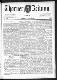 Thorner Zeitung 1892. Nr. 188