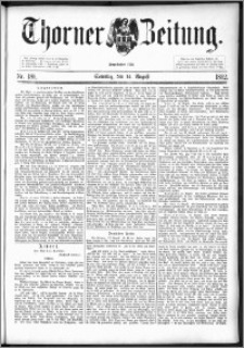 Thorner Zeitung 1892. Nr. 189 + Beilage