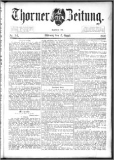Thorner Zeitung 1892. Nr. 191