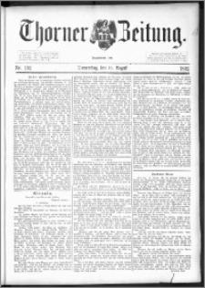Thorner Zeitung 1892. Nr. 192