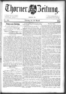 Thorner Zeitung 1892. Nr. 196