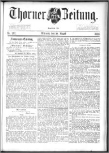 Thorner Zeitung 1892. Nr. 197
