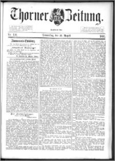 Thorner Zeitung 1892. Nr. 198