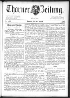 Thorner Zeitung 1892. Nr. 201 + Beilage