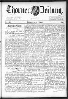 Thorner Zeitung 1892. Nr. 203