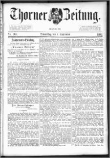 Thorner Zeitung 1892. Nr. 204