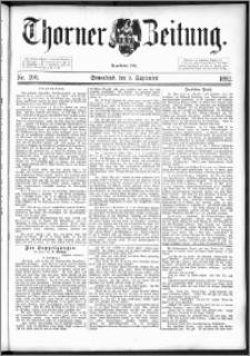 Thorner Zeitung 1892. Nr. 206
