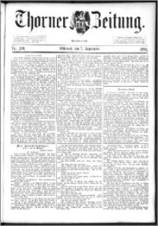 Thorner Zeitung 1892. Nr. 209