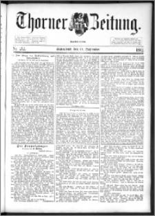 Thorner Zeitung 1892. Nr. 212