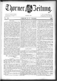 Thorner Zeitung 1892. Nr. 218