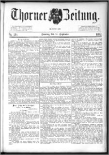 Thorner Zeitung 1892. Nr. 219 + Beilage