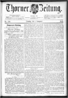 Thorner Zeitung 1892. Nr. 256