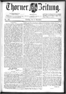Thorner Zeitung 1892. Nr. 261 + Beilage