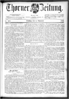 Thorner Zeitung 1892. Nr. 268 + Beilage