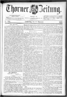 Thorner Zeitung 1892. Nr. 270