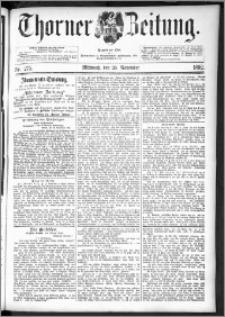 Thorner Zeitung 1892. Nr. 275