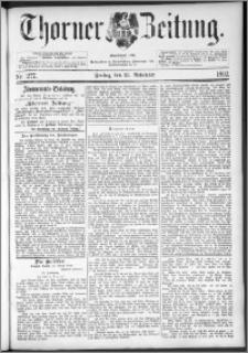 Thorner Zeitung 1892. Nr. 277