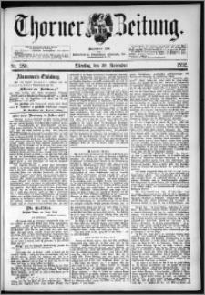 Thorner Zeitung 1892. Nr. 280