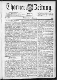 Thorner Zeitung 1892. Nr. 287 + Beilage