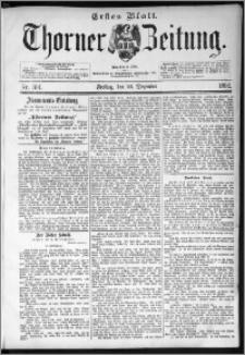 Thorner Zeitung 1892. Nr. 301 Erstes Blatt