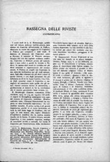 Rassegna della riviste (Copernicana)