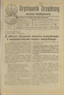 Orędownik Urzędowy Miasta Bydgoszczy, R.39, 1922, Nr 14