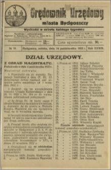 Orędownik Urzędowy Miasta Bydgoszczy, R.39, 1922, Nr 18
