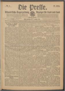 Die Presse 1910, Jg. 28, Nr. 5 Zweites Blatt, Drittes Blatt