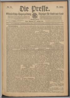 Die Presse 1910, Jg. 28, Nr. 33 Zweites Blatt, Drittes Blatt