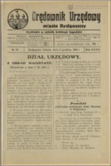 Orędownik Urzędowy Miasta Bydgoszczy, R.39, 1922, Nr 25