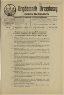 Orędownik Urzędowy Miasta Bydgoszczy, R.39, 1922, Nr 28