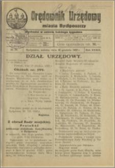Orędownik Urzędowy Miasta Bydgoszczy, R.39, 1922, Nr 29