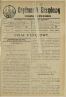 Orędownik Urzędowy Miasta Bydgoszczy, R.40, 1923, Nr 3