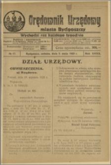 Orędownik Urzędowy Miasta Bydgoszczy, R.40, 1923, Nr 17