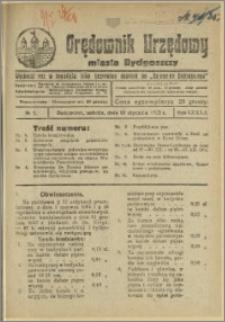 Orędownik Urzędowy Miasta Bydgoszczy, R.42, 1925, Nr 1