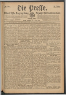 Die Presse 1910, Jg. 28, Nr. 105 Zweites Blatt, Drittes Blatt