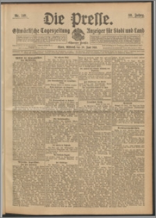 Die Presse 1910, Jg. 28, Nr. 149 Zweites Blatt, Drittes Blatt