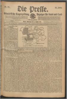 Die Presse 1910, Jg. 28, Nr. 191 Zweites Blatt, Drittes Blatt, Viertes Blatt