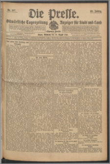 Die Presse 1910, Jg. 28, Nr. 197 Zweites Blatt, Drittes Blatt