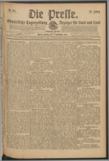 Die Presse 1910, Jg. 28, Nr. 211 Zweites Blatt, Drittes Blatt